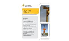 Model R247 Series - Solar 24 Hour Flashing Beacon Datasheet