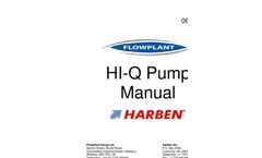 Harben - Model HI-Q - Radial Piston Pump - Manual