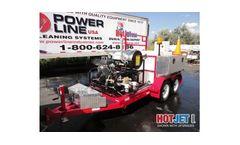 Model HJ1TA7035HW - Single Axle Trailer Mounted Sewer Drain Line Jetters
