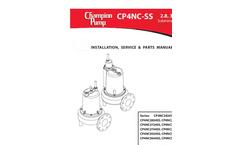 Model CP4NC-SS - Submersible Non-clog Sewage Pump - Manual
