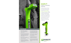 Subsite - Model 830R/T - Utility Locating System Brochure