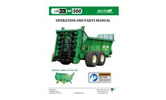 HP 500 Hydra-Pull Manure Spreader - Operator Manual