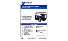 Hydra-Tech HT13GXR Portable Hydraulic Power Unit - Specifications Sheet
