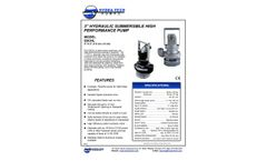 Hydra-Tech S3CHL 3 Hydraulic Submersible High Performance Pump - Specifications Sheet