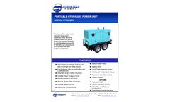 Hydra-Tech Model HT66DQKV Portable Hydraulic Power Unit - Specifications Sheet