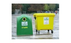 Two-container Model for Separate Waste Collection