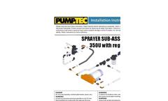 Pumptec - Model 350U-190/M130-8 - Sprayer Sub-Assembly for Regulator and Filter Included Installation Manual
