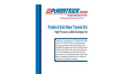 Potable & Bulk Water Transfer Brine Hose Brochure