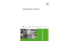 Dewatering Auger Compactor Brochure