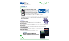 TacticID-N Handheld Raman Analyzer for Narcotic and Pharmaceutical Drug Identification Datasheet