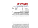 Cannon - Model CT-1000 - Extended Range Constant Temperature Bath - Brochure