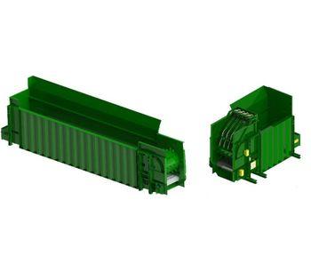 Green Machine - Metering Bin Drum Feeder System