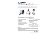 GPE - Model F5001 - Electromagnetic Flow Meter Brochure