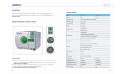 Biobase - Model Class N Series - Table Top Autoclave Brochure
