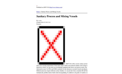 Sanitary Process and Mixing Vessels Brochure