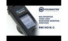 Multipurpose Hand-Held Radiation Monitor/Identifier PM1401K-3 - Video