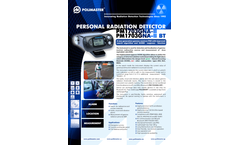 Polimaster - Model PM1703GNA-II - Personal Radiation Detector - Brochure