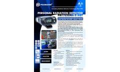 PM1703GNA-II MBT Personal Radiation Detector - Brochure