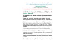 2014 NACRW List of Vendor Seminars Brochure