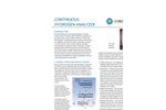 COSA/Xentaur - Continuous Hydrogen Analyzer (CHA) Brochure