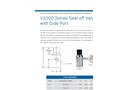 Cryocomp - Model V1000 Series - Vacuum Seal-off Valve with Side Port Brochure