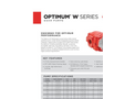 Muncie - Model Optimum W Series - High Performance Gear Pumps/Motors - Brochure