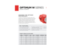 Muncie - Model Optimum W Series - High Performance Gear Pumps/Motors - Specifications