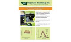 DTI - Model DT-100 - Acoustic Spectrometer for Particle Size Analyzer - Brochure