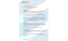 ElvaX ProSpector in Air Pollution Analysis - Brochure