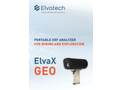 ElvaX Geo Portable XRF Analyzer for Mining and Exploration - Brochure