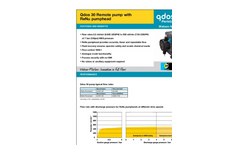Qdos 30 - Peristaltic Metering Remote Pumps with ReNu Pumphead Datasheets
