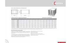 Model R02 3 - Rectangular Duct Silencers Brochure