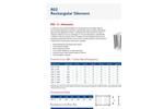 Acoustica - Model R02 - Rectangular Duct Mounted Splitter Silencers - Datasheet