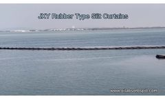 JXY Rubber Type Silt Curtain For Sediment and Alga Control - Video
