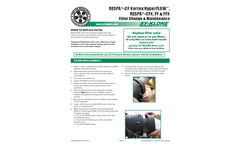 RadialSHIELD - Model H13 - FEFF110 - Inline HEPA Filter  Brochure