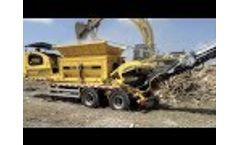 TANA Shredder Shredding Waste Wood - Particle Size 80mm (3 inches) Video