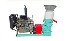 Amisy - Model AMSPLM - Diesel Flat Die Wood Pellet Mill