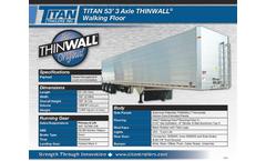THINWALL - Model TITAN 53inch - 3 Axle Walking Floor - Brochure
