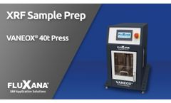 Fluxana Electrical Vaneox 40t Press for X-ray Fluorescence Analysis (XRF) - Video