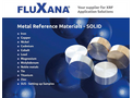 Fluxana - Metal Reference Materials - Solid - Catalogue