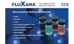Fluxana - Petrochemical Reference Materials - Catalogue