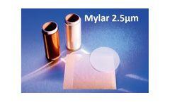 FLUXANA - Model TF-125-345 - XRF Thin Film Mylar 2.5µm 7.6cmx7.6cm Square