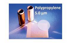 Fluxana - Model TF-250-345 - XRF Polypropylene Thin Film 5.0µm Cut Sheets
