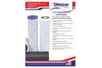 AMBF - Model CTO - Carbon Block Cartridges - Datasheet