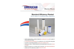 AMBF - H & HN Series - Standard Efficiency Pleated Cartridges Datasheet