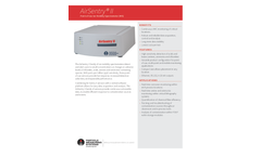 AirSentry II Point-of-Use Ion Mobility Spectrometer (IMS) - Specification Sheet