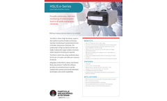 HSLIS e-Series - Liquid Optical Particle Counter - Specification Sheet
