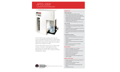 Model APSS-2000 - Automated Parenteral Sampling System - Specification Sheet