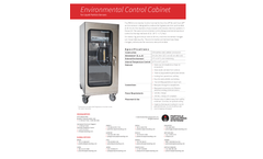 Environmental Control Cabinet for Liquid Particle Sensors - Specification Sheet
