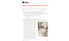 Manage Your Risk: Monitoring the Environment of Aseptic Processes - Application Note